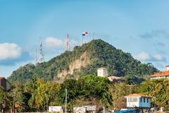 肘小山在巴拿马城 库存图片