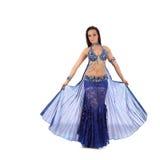 肚皮舞的美丽的女孩舞蹈家,东部服装 图库摄影