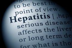 肝炎的定义 免版税库存照片