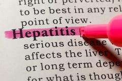 肝炎的定义 免版税库存图片