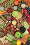 肝脏戒毒所的超级食物 图库摄影