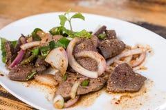 肝脏猪肉沙拉 免版税库存图片
