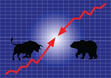 股市、牛市与熊市 向量例证