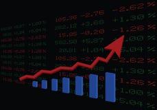 股市上升  皇族释放例证