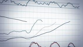 股市图表系统-特写镜头摇摄 向量例证