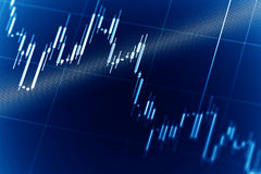 股市图表 免版税库存图片