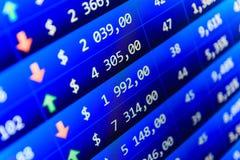 股市引述图表 库存图片