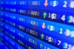 股市引述图表 免版税库存照片