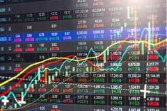 股市或外汇贸易的图表和烛台绘制suitab图表 免版税图库摄影