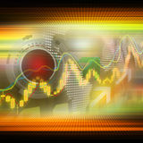 股市注标五颜六色典雅在抽象背景 免版税库存图片