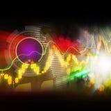 股市注标五颜六色典雅在抽象背景 免版税库存照片