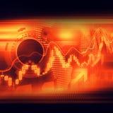 股市注标五颜六色典雅在抽象背景 免版税图库摄影