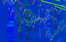 股市价格行情,价格模式图表和某一indicato 图库摄影