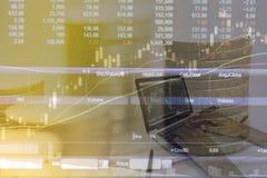 股票交易分析 免版税库存图片