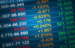 股票交易市场显示 免版税库存图片