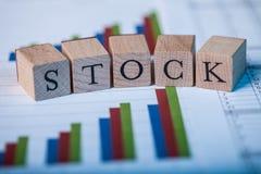 股票和长条图 库存图片