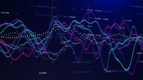 股票市场图表投资图表概念3d翻译 皇族释放例证