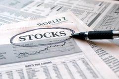 股票新闻 免版税库存照片