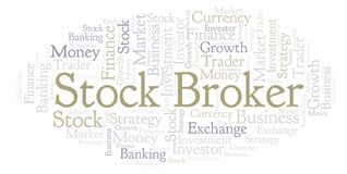 股票经纪人词云彩 向量例证