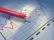 股票趋势 库存例证