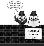 股份分配 免版税库存图片