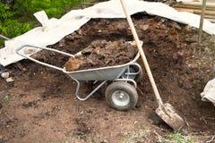 肥料,土壤堆  免版税库存照片