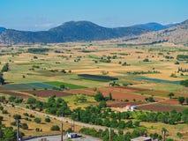 肥沃的农地,伯罗奔尼撒,希腊 库存图片