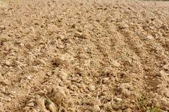 肥沃被犁的土壤 库存照片
