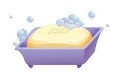 肥皂和案件 向量例证