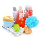 肥皂和海绵 免版税库存照片