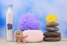 肥皂和石头 免版税库存图片