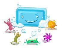 肥皂和细菌 皇族释放例证