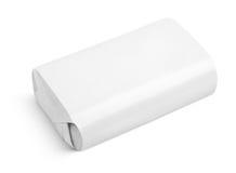 肥皂套在白色隔绝的箱子包裹 图库摄影