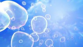 肥皂泡天空背景(圈) 影视素材
