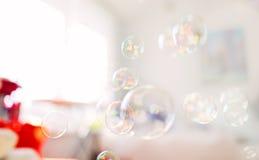 肥皂泡,抽象背景 免版税图库摄影