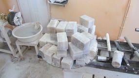 肥皂的工艺生产 图库摄影
