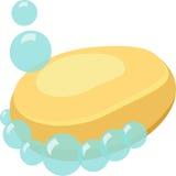 肥皂被隔绝的动画片传染媒介 免版税图库摄影