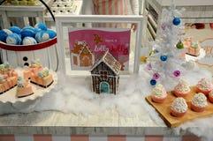 肥皂装饰的圣诞树 库存图片