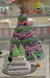 肥皂装饰的圣诞树 库存照片
