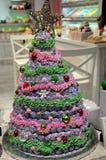 肥皂装饰的圣诞树 免版税库存图片