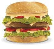 肥胖乳酪汉堡 库存图片
