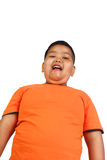 肥胖亚裔男孩 免版税库存图片