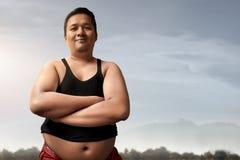 肥胖人微笑 免版税库存照片