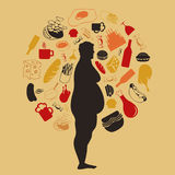 肥胖人 库存图片