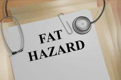 肥胖危险医疗概念 免版税库存照片
