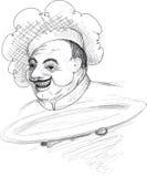 肥胖厨师 免版税库存图片