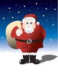 肥胖圣诞老人 图库摄影