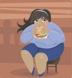 肥胖夫人 库存照片