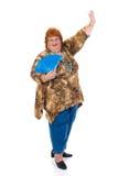 肥胖妇女 免版税图库摄影