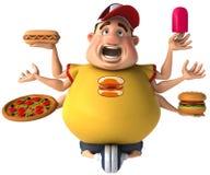 肥胖孩子 免版税库存图片